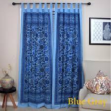 Overstock Blackout Curtains Handmade 100 Cotton Sunflower Floral Tab Top Curtain Drape Door