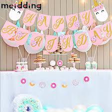 unicorn birthday party meidding unicorn happy birthday banner birthday party decor kids
