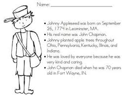 free coloring johnnyappleseed ideas