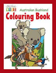 booktopia steve parish kids australian bushland colouring book