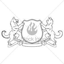 cat pets heraldic shield coat of arms gl stock images