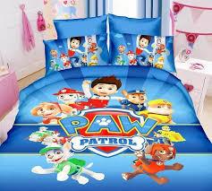 Twin Duvet Covers Boys Aliexpress Com Buy Blue Paw Patrol Dog Bedding Bed Linen Set Boy