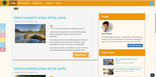 download two sidebar and one sidebar free blogging template