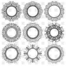 set of circle geometric ornaments vector clipart image 112477