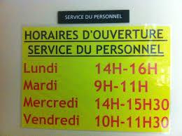 horaires de bureau bureau du personnel nouveaux horaires auchan cftc valence