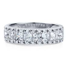 half eternity ring sterling silver cubic zirconia cz stackable half eternity ring r356
