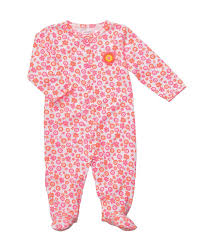 carters floral snap up sleep pink baby sleepers baby clothes