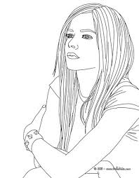 coloring pages of people avril lavigne coloring page more famous people content on