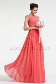 modest bridesmaid dresses lace coral bridesmaid dresses with sleeves