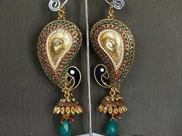 kanphool earrings peacock collection polki peacock earrings retailer from barnala