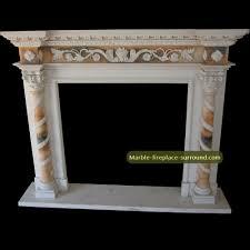 antique fireplace frame façade with barley twist column design