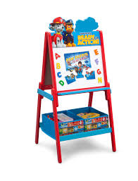 delta children paw patrol wooden double sided activity easel with