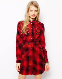 fred perry red gingham shirt dress product 1 22823431 1 644648655
