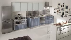 the simplicity of stainless steel kitchen cabinets decor trends