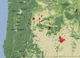 a map of oregon fires pacific northwest wildfire season oregon and washington topped