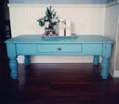 Shabby Chic Coffee Table by Hand Painted And Distressed Coffee Table Painted With Agave