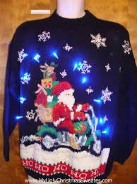 Ugly Christmas Sweater Decorations Charming Decoration Christmas Sweater With Lights Santa Ugly