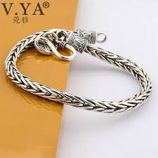 man silver bangle bracelet images V ya punk men jewelry thai silver bracelets for men infinity jpg
