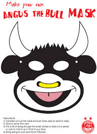 printable bull mask fun stuff aberdeen fc