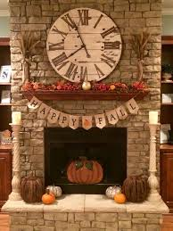 fall decorations for the fireplace fall pumpkin