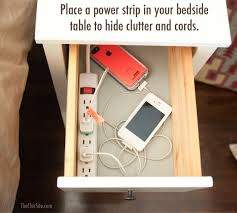 Bedside Charging Station Diy Charging Station In Nightstand Banish Clutter
