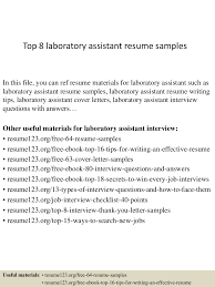 Cto Resume Sample by Sample Resume For Laboratory Assistant Virtren Com