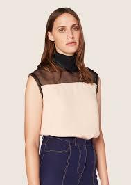 scarf blouse sleeveless scarf neck blouse derek lam