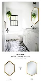 Bathroom Mirror Frame by Best 25 Black Framed Mirror Ideas On Pinterest Diy Bathroom
