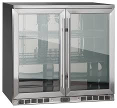 beer refrigerator glass door 2 door front venting full stainless steel bar fridge modern