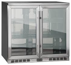 refrigerators with glass doors 2 door front venting full stainless steel bar fridge modern