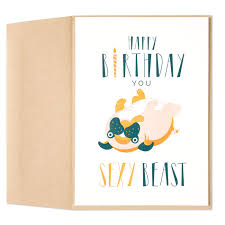 martini birthday card beast birthday card