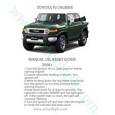 all in one complete manual oil reset guide fortoyota cars