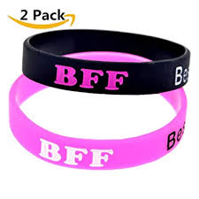 bracelet silicone images 2 pack silicone best friends forever bff bracelet band jpg