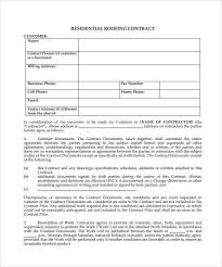 Siding Estimate Template by Roofing Contract Template 8 Free Documents In Pdf