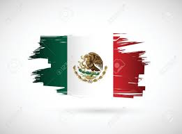 mexico mexican ink flag illustration design on white background