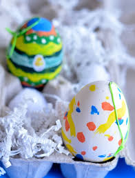 Easter Decorations For Eggs by Easter Craft For Kids Dollar Store Painted Eggs
