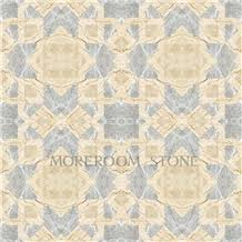 polished greece marble tiles grey venus marble waterjet medallions