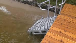 Prefabricated Aluminum Stairs by Featherlite Standard Duty Aluminum Docks