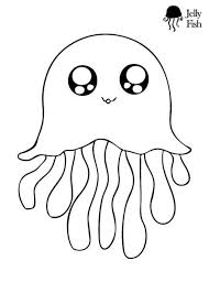 free coloring pages jellyfish this is the cutest jellyfish coloring page ever kids will love