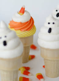 Halloween Cupcakes In A Jar by Ghost Cupcake Cones Recipe Confessions Of A Cookbook Queen