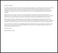 guidance counselor recommendation letter livecareer guidance