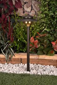 saturn 12 volt brass path light by unique lighting systems yard