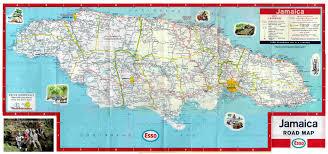 map of roads road map for clarendon jamaica jamaicajamaica