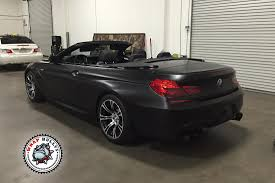 bmw black bmw m6 satin black car wrap wrap bullys