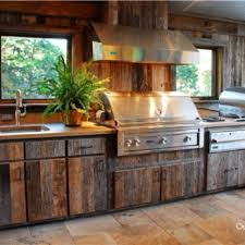 outside kitchen ideas outdoor kitchen wood cabinets and photos madlonsbigbear