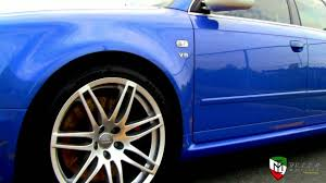 blue audi rs4 youtube