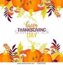 vector thanksgiving day invitation greeting card stock vector