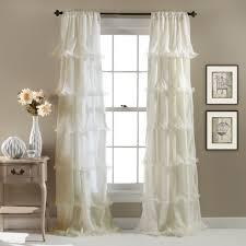 Lush Decor Nerina Ruffled Curtain Panel Aqua Blue Size 54 x 84
