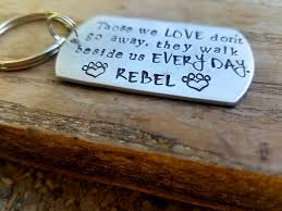 pet bereavement personalized pet memorial keychain sted pet loss gift