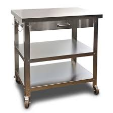 kitchen island cart with stainless steel top stainless steel kitchen island cart genwitch